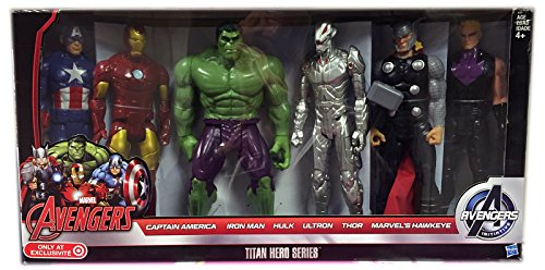 Disney Marvel Set Of Six 12'' Figures, Titan Hero Series