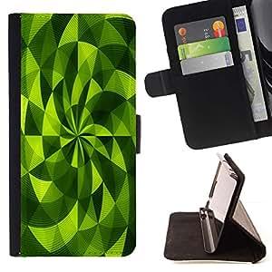 For HTC One M8 Case , Polígono Fan Vibrante Modelo abstracto- la tarjeta de Crédito Slots PU Funda de cuero Monedero caso cubierta de piel