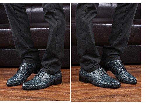MS Bespoke Chaussures Derbies pour Hommes Lettering Bout Ronde Cuir Souple bleu (lettering) EuBqDx