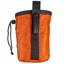 Dog Treat Pouch - Bag Can Carry Snacks and Toys - Professional Quality Pouch Ava - by barkOutfitters (Orange)
