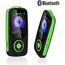 Mp3 Player with Bluetooth 16GB Support up to 64GB ,Timmy X06 Portable Digital Music/Video/Voice record/FM Radio/E-Book Reader/Photo Viewer Player(Green)