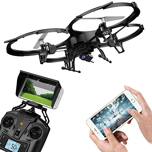 DBPOWER UDI U818A WiFi FPV Quadcopter Drone Headless Mode with HD Camera with Battery