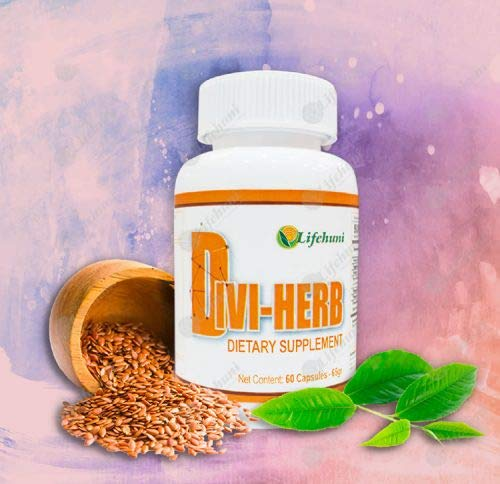 Divi – Her – Original Divi-Herb Dietary Supplement with 60 Capsules in Each Bottle