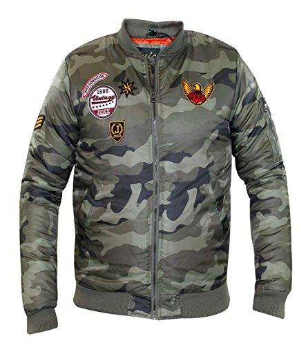 Nuovi Bomber Del Cappotto Succo Badge Bravo khaki Uomini Di Marca Progettista Ma1 Imbottito Camuffamento I qCETxdq