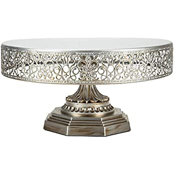 18 inch silver wedding cake stand giftbay creations 743 14r wedding cake 10075