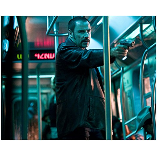 The Taking of Pelham 1 2 3 (2009) 8 inch x 10 inch PHOTOGRAPH John Travolta Pointing Gun on Train kn