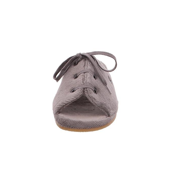 Romika Damen Brindisi Graue Textil Pantoffeln Größe 37 Grau (anthrazit) TsPWP