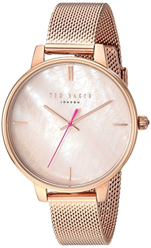 Ted Baker Women's Kate Quartz Watch with Stainless-Steel Strap, Rose Gold, 14 (Model: TE50272007)