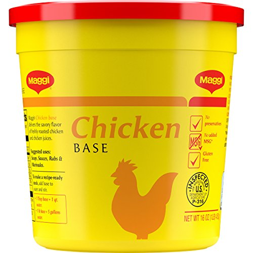 Maggi Chicken Base, Stock and Bouillon, Gluten Free, No MSG, Bulk 1 lb. Container