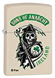 Zippo Lighter: Sons of Anarchy Ireland - Cream Matte