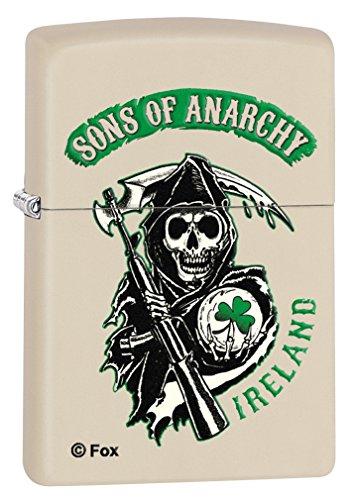 Zippo Lighter  Sons Of Anarchy Ireland   Cream Matte