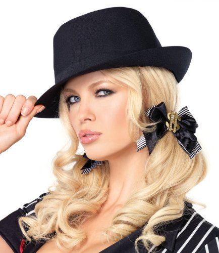 Gangster Black Fedora Hat