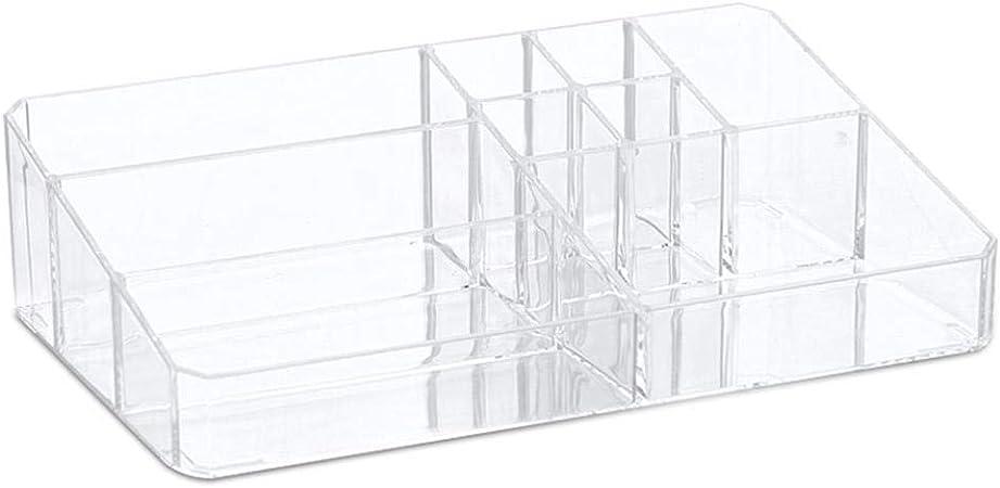 Pawaca - Organizador de maquillaje transparente – CALIDAD PREMIUM Transparente Escalera de plástico Vanity Cosmético Caja de almacenamiento, Mujer Belleza Acrílico Cosmético y Maquillaje Paleta Organizador Joyería Caja de almacenamiento: Amazon.es: Hogar