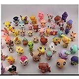 20/lot Littlest Pet Shop Children Action Figure Toys Baby PVC Soft Model Puppets Girl Mini Doll