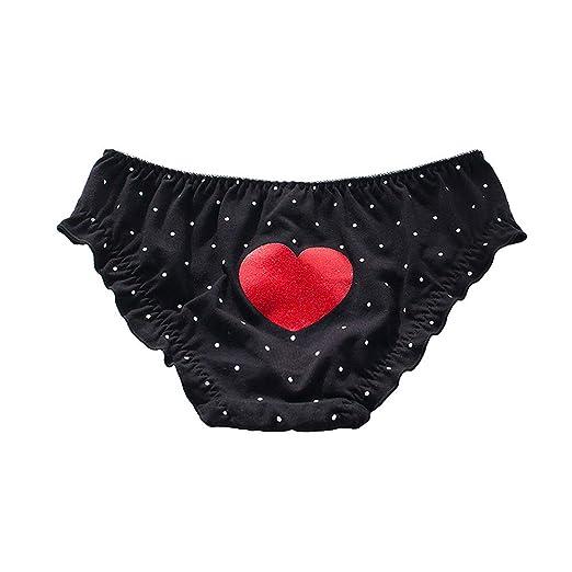 361c1623ecd YOMORIO Womens Cute Polka Dot Panties Girls Kawaii Japanese Anime Underwear  Love Heart Cotton Briefs (
