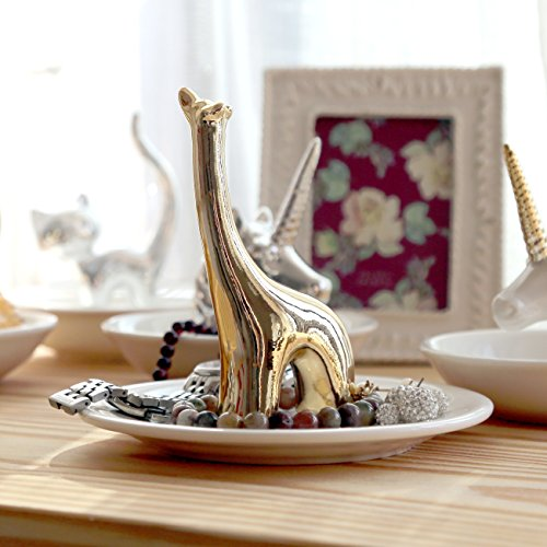 Eastyle Golden Giraffe Small Jewelry Dish Rack Rings Bracelets Earrings Trays Holder - Giraffe Tray