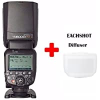 YONGNUO YN600EX-RT-II Wireless Flash Speedlite TTL Master for Canon DSLR 70D 60D 50D 40D 30D w/ EACHSHOT Diffuser