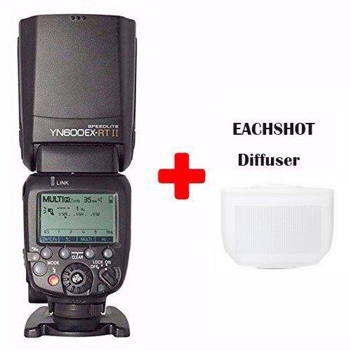 YONGNUO YN600EX-RT-II Wireless Flash Speedlite TTL Master for Canon DSLR 70D 60D 50D 40D 30D w/ EACHSHOT Diffuser by Yongnuo