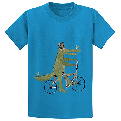 mcol-crocodile-song-girls-crew-neck-customized-t-shirt-blue