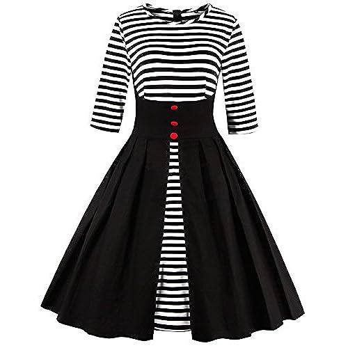 Black Blue White Dress Amazon