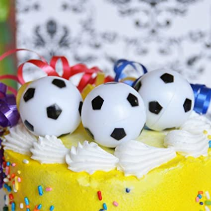 Brilliant Amazon Com Soccer Ball Cake Topper 6 Count Arts Crafts Sewing Funny Birthday Cards Online Overcheapnameinfo