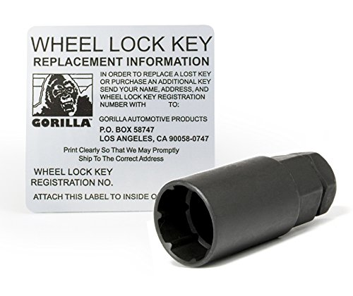 14mm x 1.50 Thread Size, 4-Pack Gorilla Automotive 96641DX Chrome Factory Style Wheel Lock Set