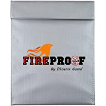 FIREPROOF document Fire Resistant Pouch Document Bag for Money, Flame Retardant, Waterproof Pouch (7x9 inch, Gray)