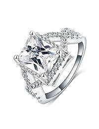 Gnzoe Fashion cross Rings Micro Pave AAA cubic zirconia rings Ladies rings