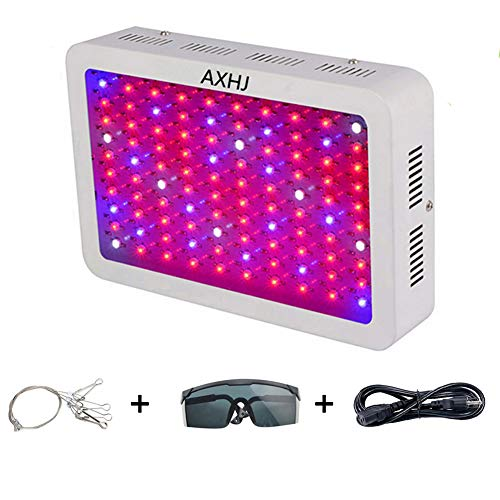 AXHJ 1000W LED Grow Light Double Chips Full Spectrum LED Grow Lamp with UV&IR for Greenhouse Hydroponic Indoor Plants Veg and Flower All Phases of Plant Growth. by AXHJ