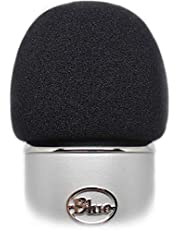 Professional Foam Windscreen for Blue Yeti - Covers Other Large Microphones such as MXL Audio Technica and Many More - Quality Sponge Material Makes This The Perfect Pop Filter for your Mic - Black
