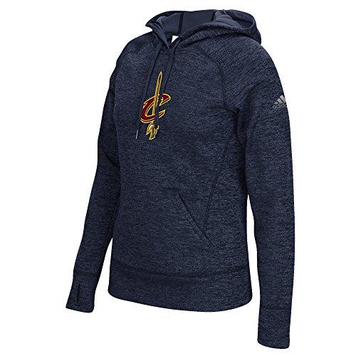 Cleveland Cavaliers Logos (NBA Cleveland Cavaliers Women's Team Logo Fleece Pullover Hoodie, Large, Navy)