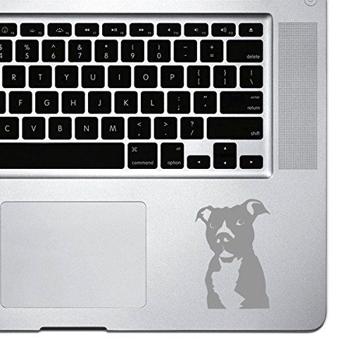 StickAny Palm Series Pit Bull Sticker for Macbook Pro, Chromebook, and Laptops (Silver)