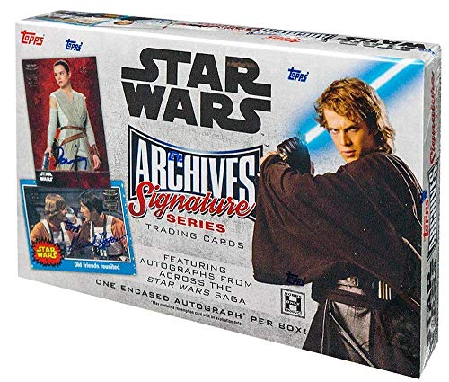 2018 Topps Star Wars Archives Signature Series box (1 card) -