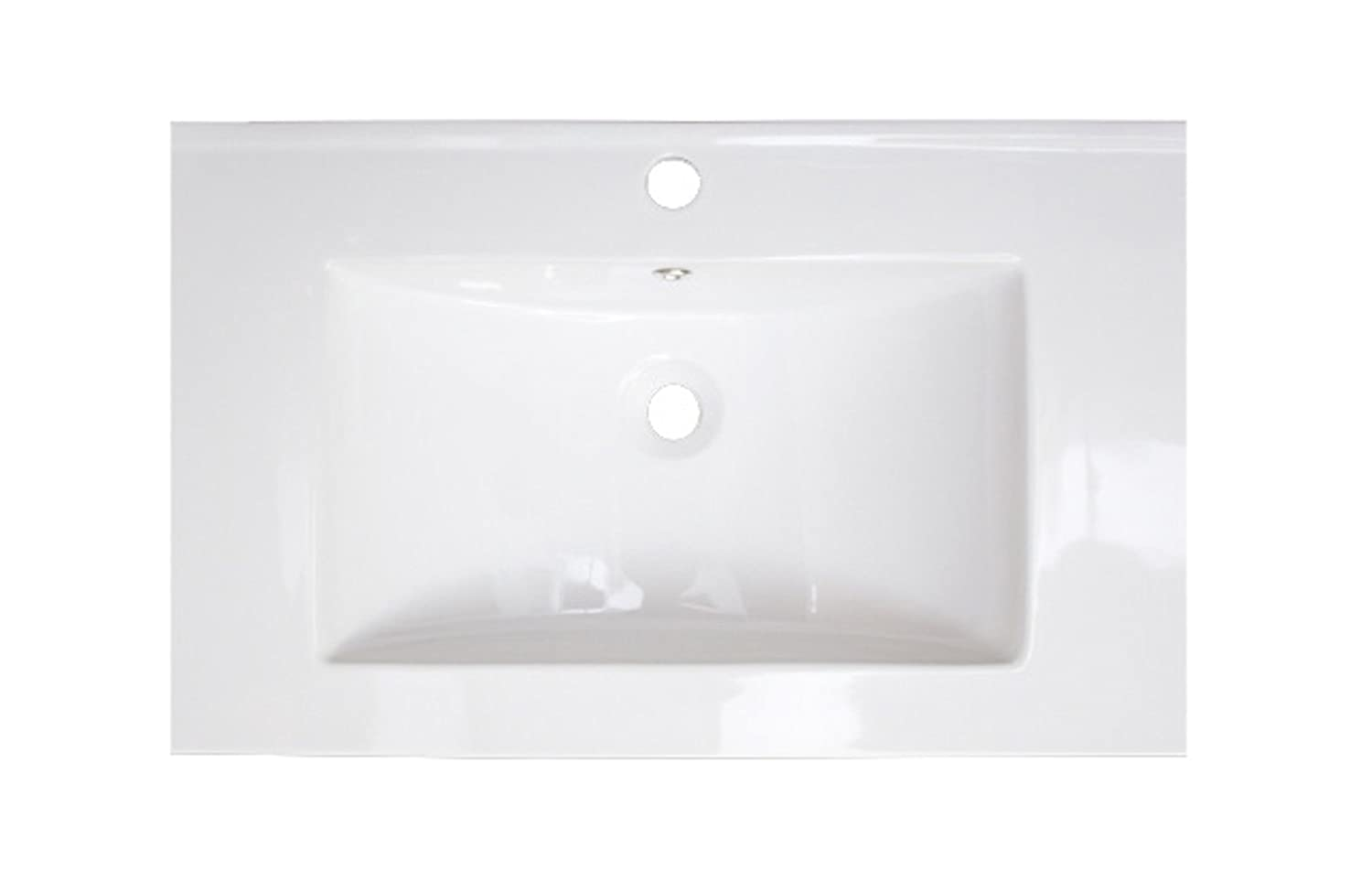 American Imaginations AI-5-1181 Ceramic Top for Single Hole Faucet, 21-Inch x 18-Inch, White IMG Imports Inc.