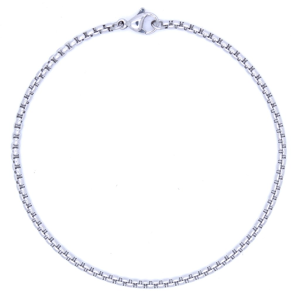 RINYIN Foot Jewelry Stainless Steel Anklets T@CO Rolo Ankle Bracelets 2.5mm 9'