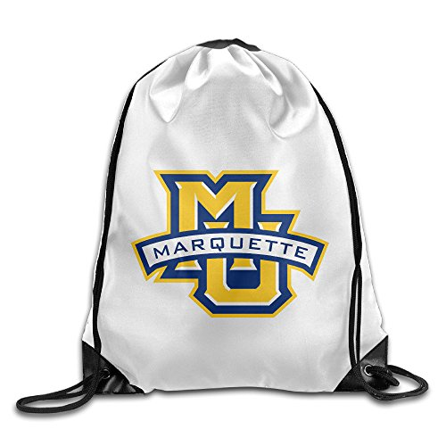 Bekey Marquette MU Logo University Gym Drawstring Backpack Bags For Men & Women For Home Travel Storage Use Gym Traveling Shopping Sport Yoga Running