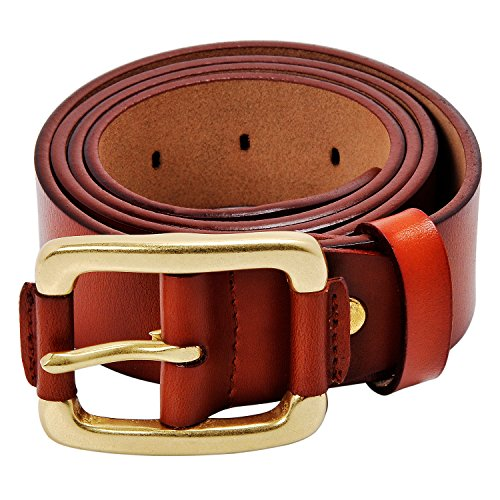 Kingstar Men's Genuine Leather Belt 38mm Smooth Leather Reversible Ratchet Classic Dress with Adjustable...