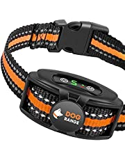 DOGRANGE Rechargeable Dog Bark Collar with Dual Motor Function - Humane No Shock Training - Vibration & Beeps Active Modes - All Breeds Barking - Adjustable for Small, Medium, Large Dogs