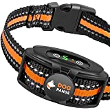 DOGRANGE Rechargeable Dog Bark Collar with Dual Motor Function - Humane No Shock Training - Vibration & Beeps Active Modes -