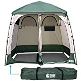 EasyGo Product Shower Shelter – Giant Portable Outdoor Pop UP Camping Shower Tent Enclosure – Changing Room – 2 Rooms…
