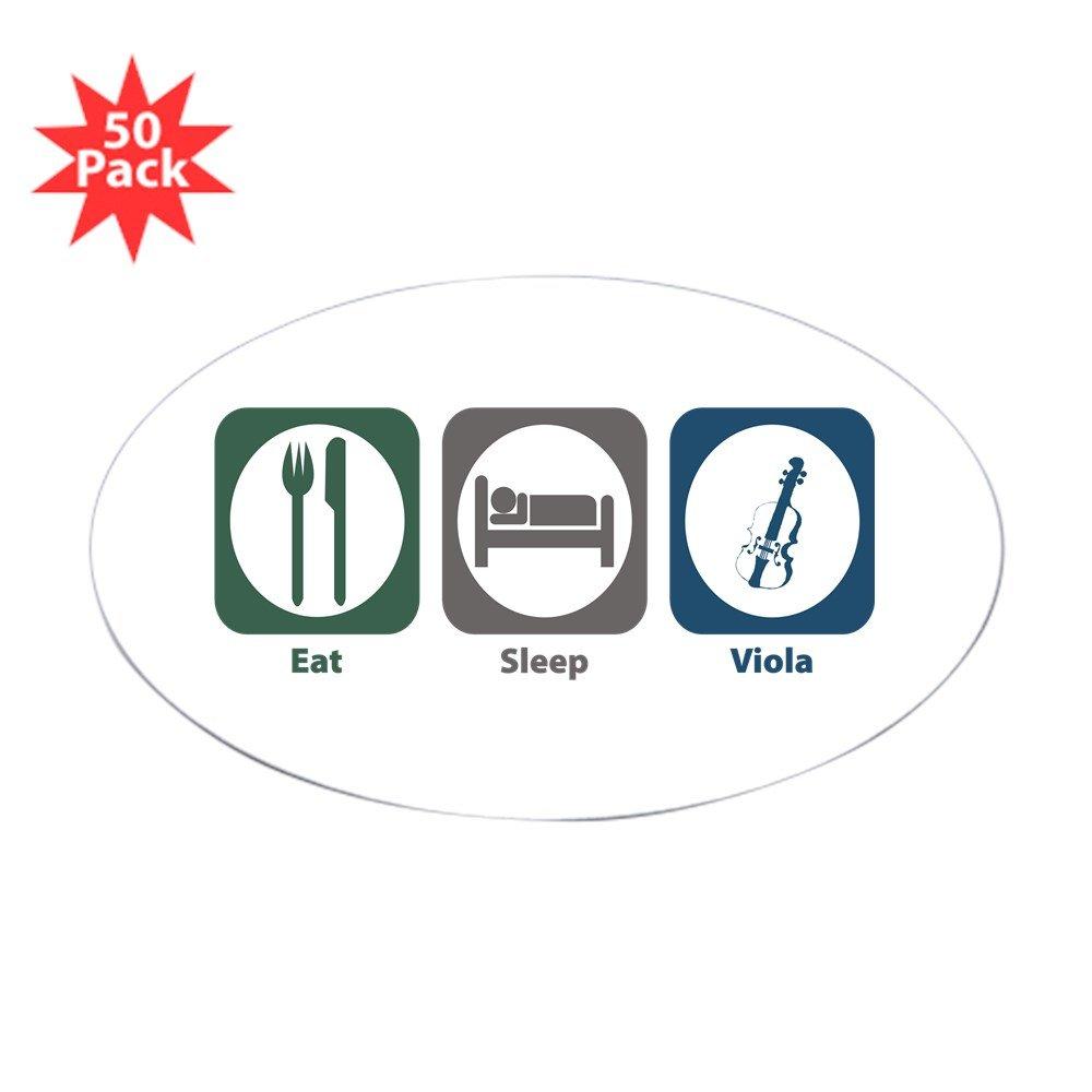 CafePress - Eat Sleep Viola Oval Sticker (50 Pk) - Sticker (Oval 50 pk)
