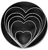 Fox Run Heart Cookie Cutter Set, 5-Piece