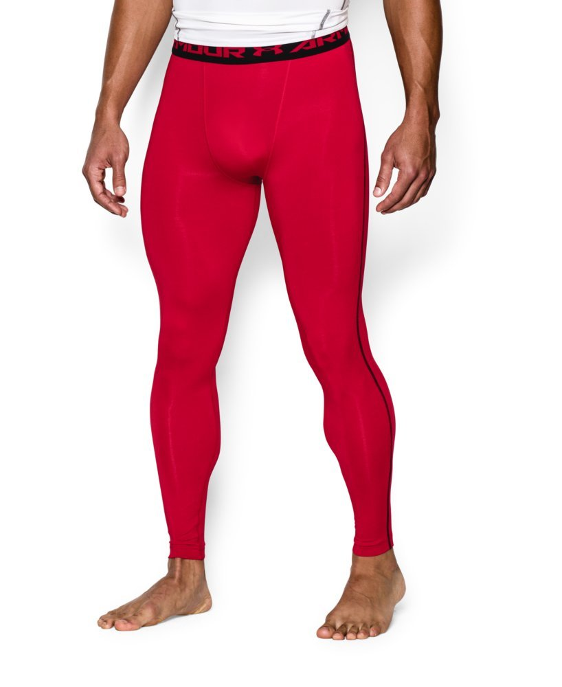 Under Armour Men's HeatGear Armour Compression Leggings, Red /Black, XX-Large by Under Armour (Image #3)