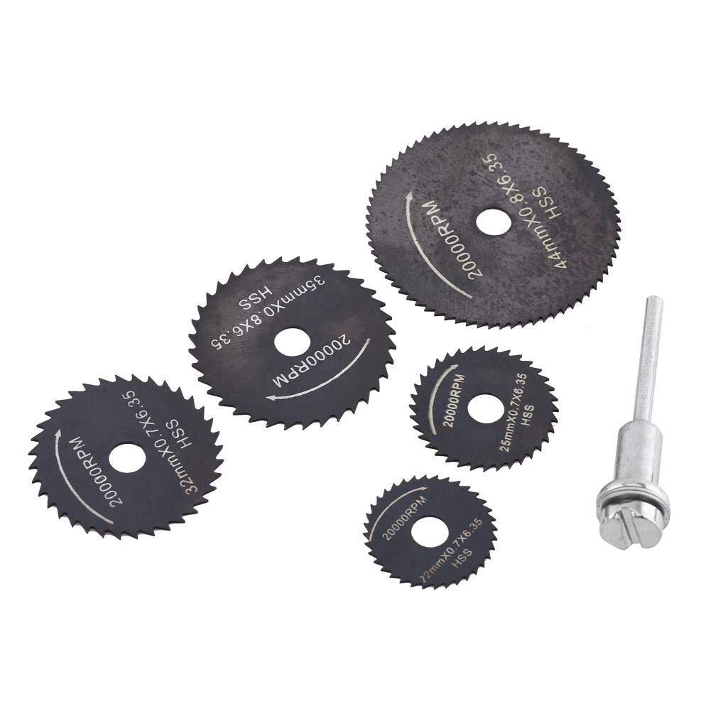 Circular Saw Blades Set for Wood Plastic, Cutting Blades Tools Accessory, 5 Sizes