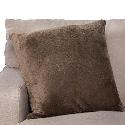 Throw Pillow, Comfy Couch Pillow,MemoThrow, Memory Foam Throw Sofa Couch Pillow, Comfortable Throw Pillow, Contour Memory Foam, Luxurious Faux Fur Flannel Cover, Gift for Men, Women, Grandparents - Sofa Pillow Foam