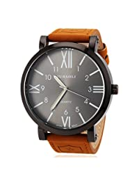 LightInTheBox Men's Watch Military Roman Numeral Big Black Dial Designer Watch Christmas Gift Present, Color=Orange
