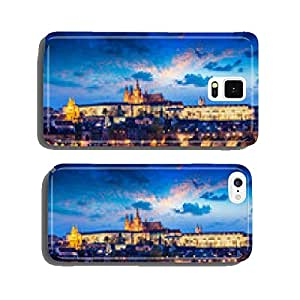 Charles Bridge and Prague Castle in twilight cell phone cover case iPhone5