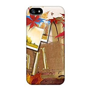 Durable Protector Case Cover With Autumn Time Hot Design For Iphone 5/5s