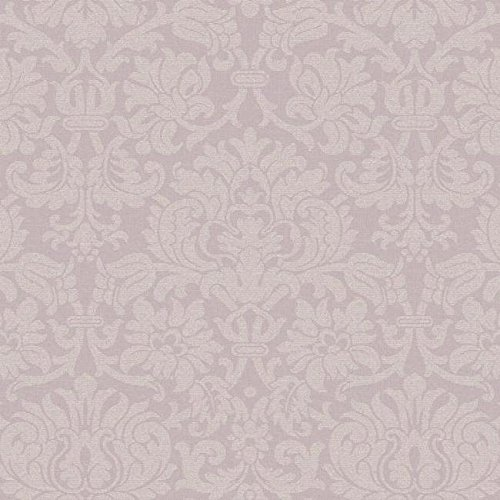 - York Wallcoverings Roses PN0547 Damask Stripe Wallpaper, Purple