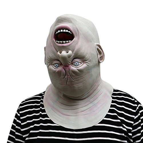 KaiCran Scary Halloween Mask 2017 Down Full Head Deluxe Novelty Halloween Scary Costume Party Latex Head Mask
